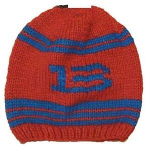 Burton Mens B13 Hand Knit Beanie Burner Hat Cap OSF Red 104861100608 FAST! A31