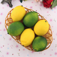 1/6Pcs pcs Limes Lemons Decorative Plastic Artificial Fruit Imitation Fake,
