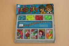 Jouet bazar vintage perle plastique réalisation collier Bead Set coquillage