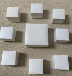 Job lot of 9 Pandora Jewellery Boxes