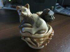 Harmony Kingdom Tjmineve3 Cat Naps Meow in original box signed