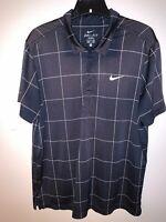 Nike Golf Men's Shirt Fit Dry Polyester Black Short Sleeve Size XL