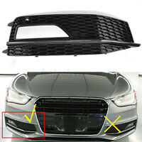 Front Right Bumper Fog Light Grill Cover For Audi A4 S-line B8 S4