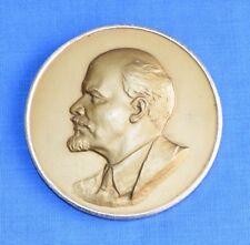 Soviet Russian Revolution Leader LENIN Desk Medal Massive Bas relief Plaque