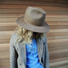 ByTheR Men's Urban Fashion High Quality Soft Wool Felt Chic Look Fedora Hat UK