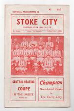 Pospuesto partido Stoke City V Liverpool 28/12/1963