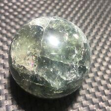 208g Natural  Green ghost Quartz Crystal Sphere Ball Healing 53mm DE324-W