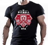 PITBULL GYM TRAINING BODYBUILDING MOTIVATION T-Shirt MMA WORKOUT CLOTHING TOP