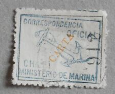 Chile 1907 Official – Marina Oficial – blue « Carta » yellow – Copy n° 912