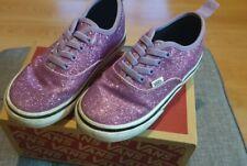 Girls Glittery Purple Vans Size Uk9