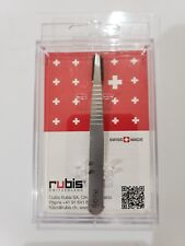Rubis Slant Tweezer With Patent Grip Swiss Made