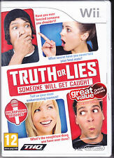 Nintendo Wii **TRUTH OR LIES** nuovo import Pal