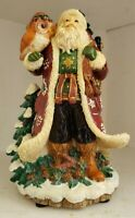 Fitz Floyd Musical Lodge Santa Wish You Merry Christmas 19/1369-MC 2002 Boxed