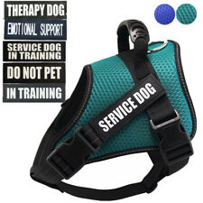 Service Dog Vest Harness Padded Mesh Removable Patch Emotional Support Therapy