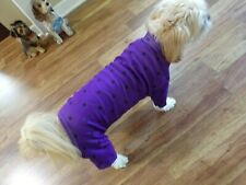 dog pajamas,stretchy purple,dotted, Large for small breeds *(read size details )