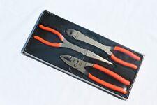 Snap On Orange 3 pc Heavy Duty Pliers Set Rare Brand New