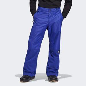 Adidas Men's Riding Snowboard Ski Snow Pants Blue and Black Size S NWT DW3997