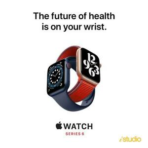 Apple Watch Series 6 44mm GPS + CELLULAR Aluminium With Sport Band -NEW SEALED