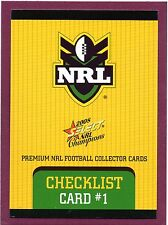 2008 NRL SELECT CHAMPIONS BASE SET (195)