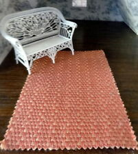 "Designer Fabric 1:12 ITALIAN DOLLHOUSE RUG 9"" x 6"" LEE JOFA"