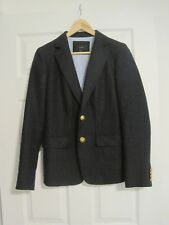 J Crew Womens Rhodes blazer Linen Navy E9766  Size 6