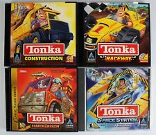 Lot of 4 Tonka PC Games Construction Search & Rescue Raceway Space Station