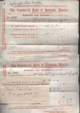 1899 THE COMMERCIAL BANK OF AUSTRALIA LTD, Warrants for Interest