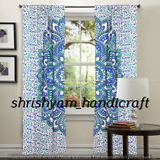 Mandala Curtain Balcony Drape Sheer Scarfs Valance Modern Room Tulle Door Windo