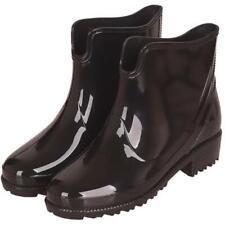 Hot женский лодыжки резиновые сапоги водонепроницаемый ПВХ резины противоскользящие нескользящая работа обувь D