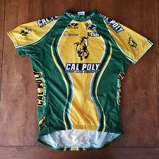 Voler Mens Large Cycling Jersey Cal Poly California Green Yellow SQ Pro L SLO