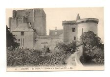 37 - cpa - LOCHES - The dungeon - Entry and tower Louis XI (D1485)