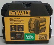 New Dewalt Dw08801 50 Ft Cross Line Laser Level Red Laser With Case