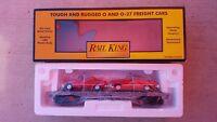 MTH Railking Auto Transport 30-7623 Flat Car w/ (2) ERTL Fire Car O Scale