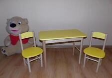 KINDERMÖBEL KINDERSITZGRUPPE KINDER Sitzgruppe Kindertisch MASSIVHOLZ NEU gelb