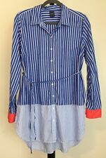 New Gap size L long button down top long sleeved striped NWOT