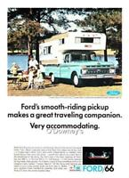 "1966 Vintage ad Ford Pick Up Green 'Camper Special"" Cabin Art Man Cave"