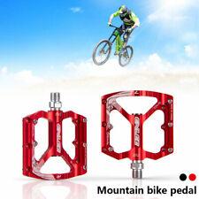 2X Aluminum Alloy Bike Pedals MTB Flat Platform Mountain Bicycle Pedals Non-slip