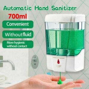 700ml Automatic Sensor Soap Dispenser Touchless Liquid Sanitizer Wall Mounted UK