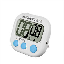 Digital Kitchen Cooking Timer Magnetic LCD Large Count Down Up Clear Loud Alarm