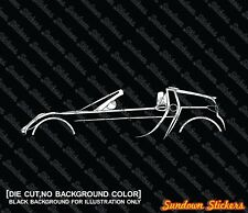 2x silhouette stickers aufkleber - for Smart Roadster Coupe (roof off)