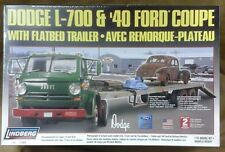 Dodge L-700 Truck Trailer & 1940 Ford Lindberg plastic model 73068 NIB