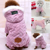 Warm Padded Dog Coat Jacket Chihuahua Pet Winter Hoodie Puppy Cat Supplies S-2XL