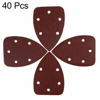 80pcs 140x95mm 12-Hole Sanding Discs Sandpaper Hook and Loop 40 80 120 240 Grits