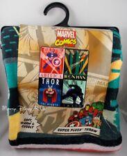 New Marvel The Avengers Group Super Plush Fleece Throw Blanket Captain A Thor