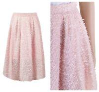 ex Coast Nude Blush Pink Vintage Style Eyelash Midi Occasion Skirt
