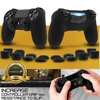 2x Anti-Slip Silicone Skin + 16x Thumb Stick Grip for PS4 DualShock 4 Controller