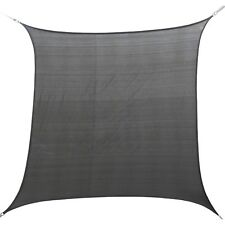 Marquee SQUARE SHADE SAIL 3x3m 93% UV Blockage, Weather Resistant CHARCOAL