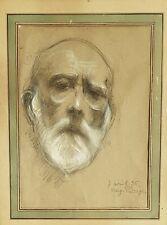 Marg. Putsage, Portrait d'homme, dessin de 1936 signé