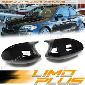 1M Style Glossy Black Side Mirror Cover Caps For BMW E81 E82 E88 E87 Pre-LCI