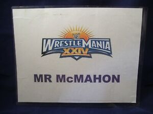 WRESTLEMANIA XXIV VINCE McMAHON PERSONAL BACKSTAGE DRESSING ROOM SIGN